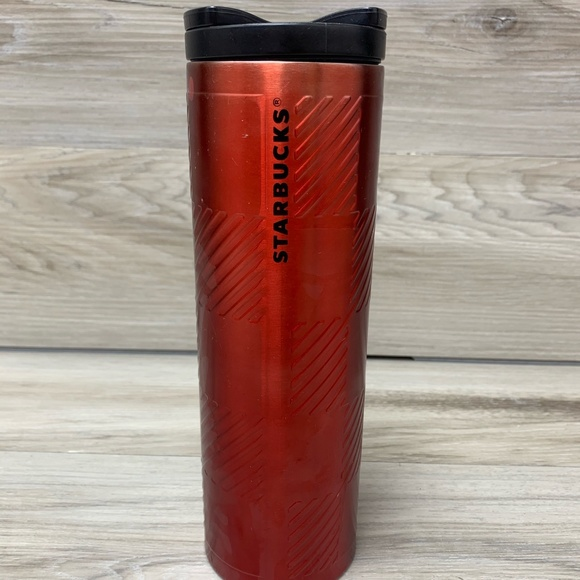 STARBUCKS RED STAINLESS STEEL COFFEE TRAVEL TUMBLE